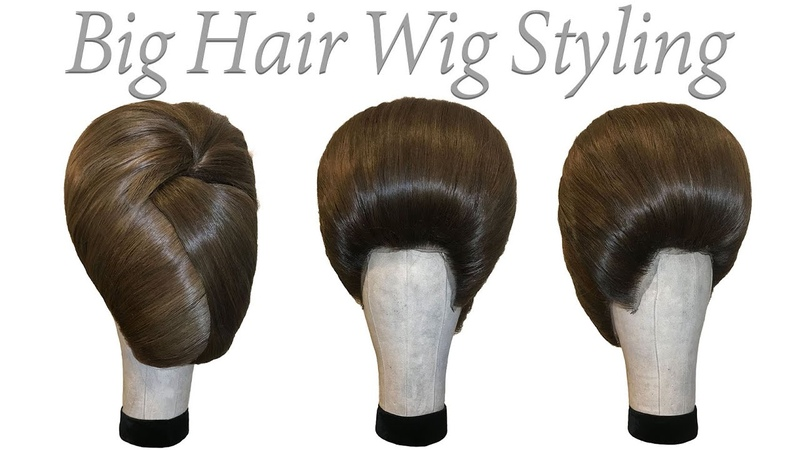 Big Hair Wig Styling. Fashion Hair. Drag Hair. Tutorial .