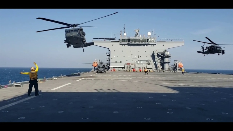 UAE helicopters carried out DLQ aboard USS Lewis B Puller