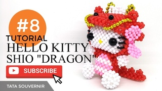 DIY How to Bead Hello Kitty Dragon Part 8 / Hello Kitty de Miçangas /Kerajinan Manik /Manik Mote