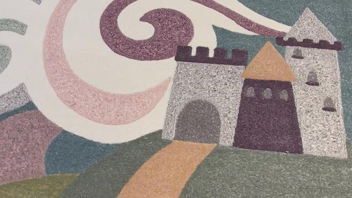 Ковер для принцессы Замок дракон и не маркая расцветка точно впишутся в детскую комнату Ковер 2*3 в отличном качестве за 9520₽