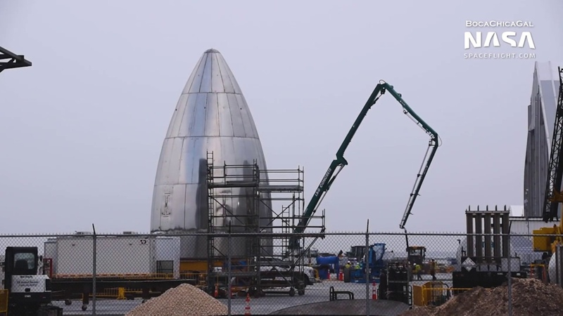 SpaceX Boca Chica Starship SN3 disassembly continues as SN4 takes shape