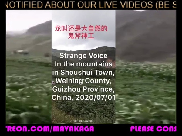 Mysterious Sounds from Mountain Area in Guizhou China for last 10 DAYS! 来自贵州大山的神秘声音。