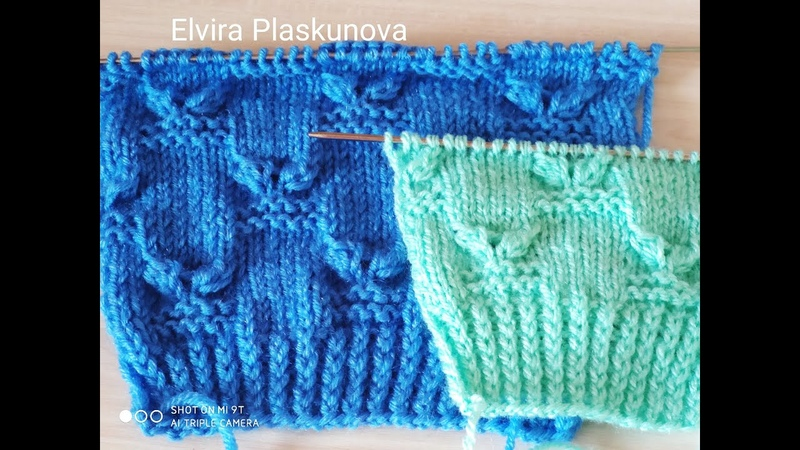НОВИНКА ! Узор для свитера, кофты, кардигана. Вязание спицами.
