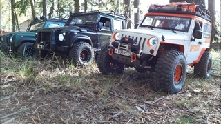 RC ADVENTURES - Boom Racing Defender d110, d110 pickup, rc4wd Jeep Wrangler