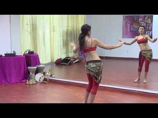 StepFlix Belly dance, level 1, basic step 20 vertical figure 8s maya sway