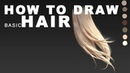 How to draw hair (voice part 2 - rendering)