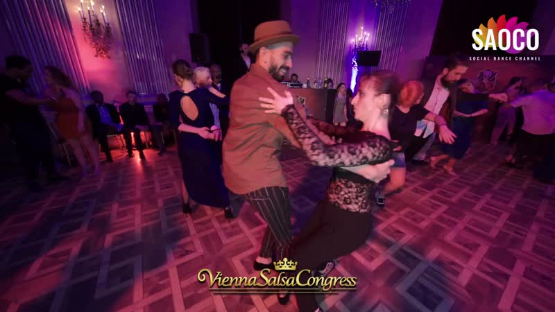 Panagiotis Aglamisis and Diana Mironidis Cha cha cha Dancing at Vienna Salsa Congress 2019 Saturday 07 12 2019