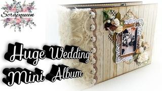 Beautiful Huge Interactive Wedding Mini Album (12x8,5inch)