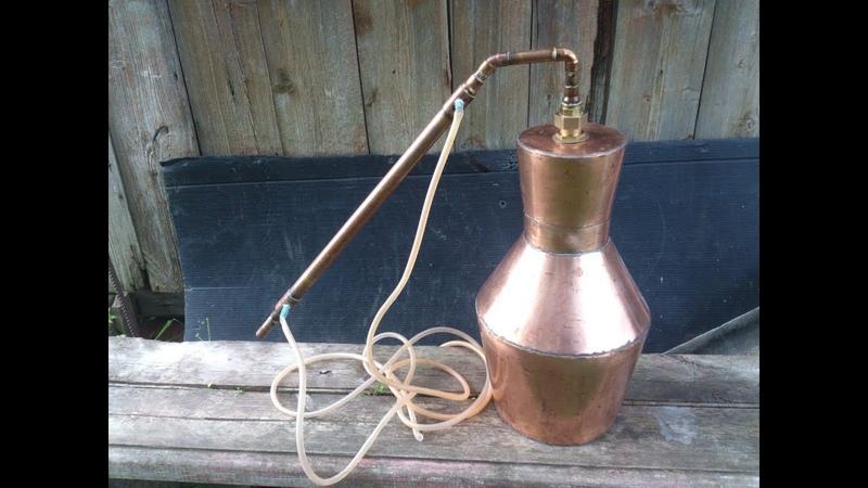 Самодельный медный перегонный куб Kentucky style self made copper moonshine pot still How to build