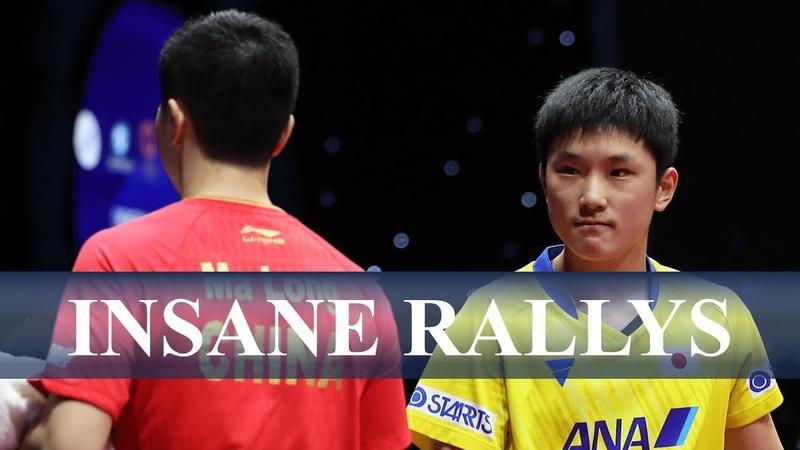 卓球 張本智和 日本最強 vs 馬龍 世界最強 のスーパーラリー集