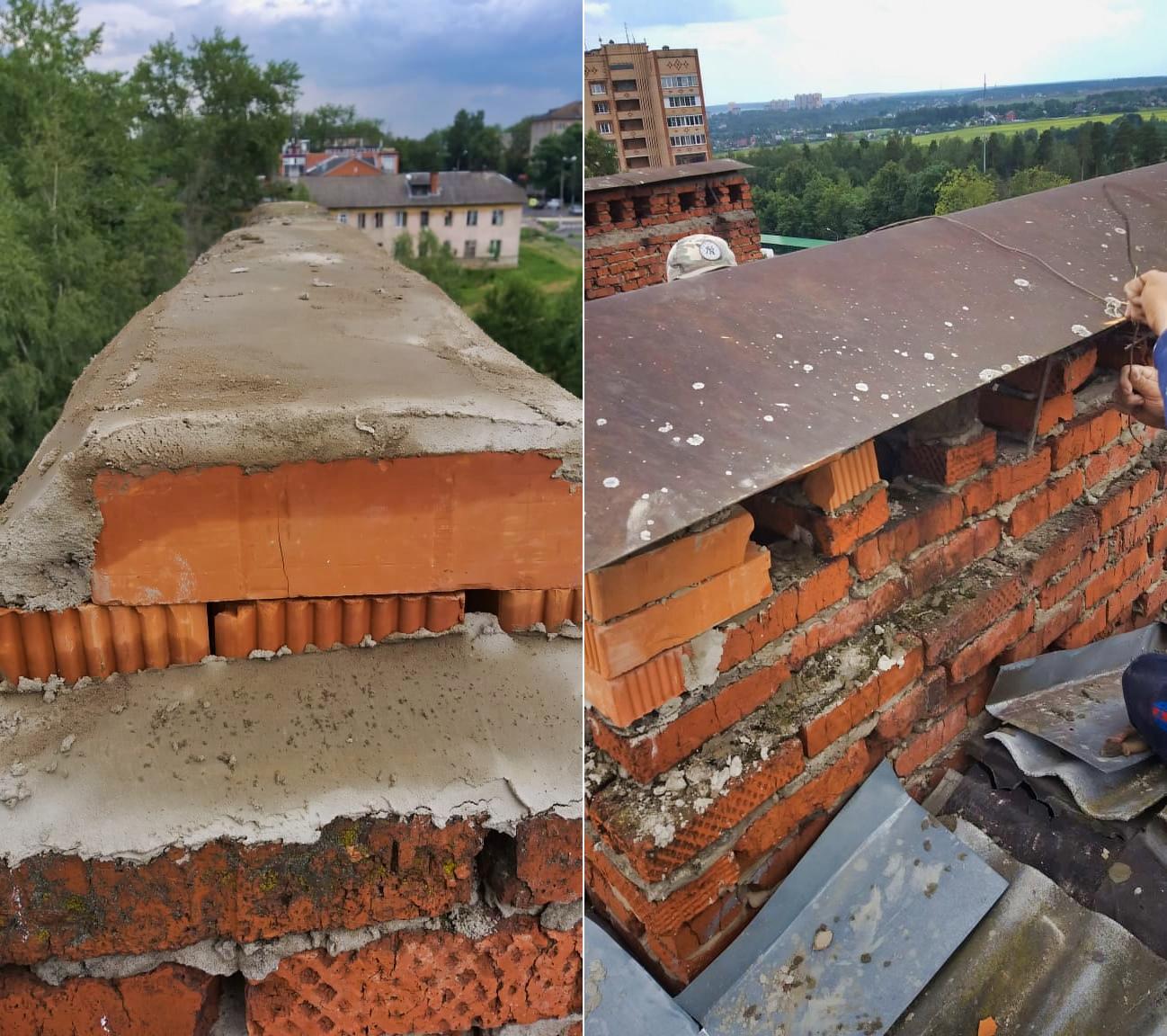 Привели в порядок оголовки на крыше Гагарина, 11