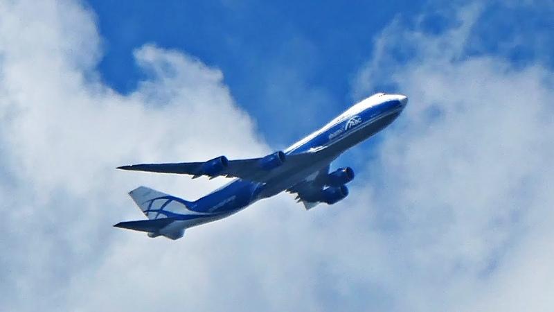Боинг 747 Два заоблачных взлета Москва Красноярск Шанхай