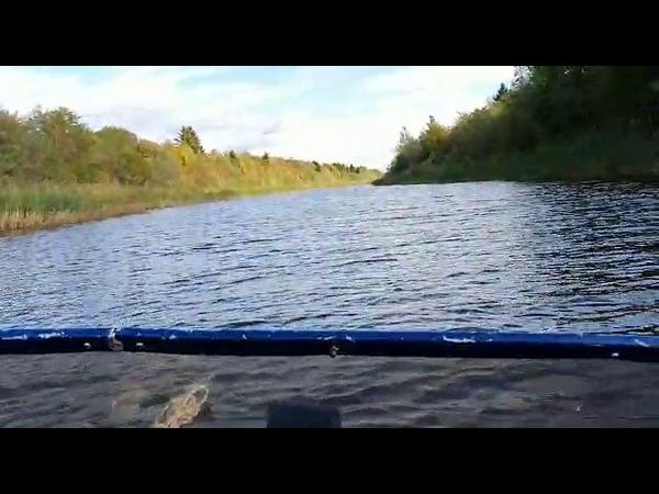 Забыл отцепить прицеп от лодки! I forgot to unhook the trailer from the boat!