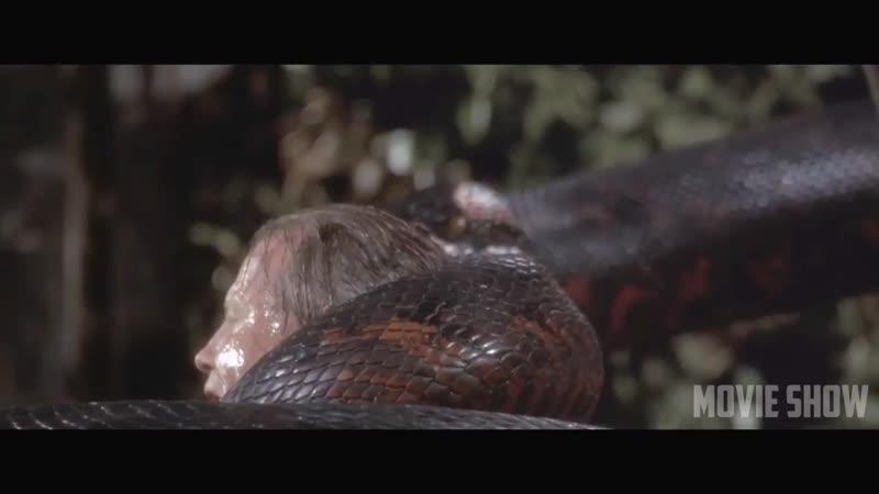 Анаконда нападет на Сарона и проглатывает его Анаконда