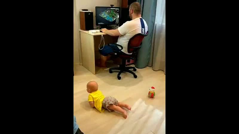 Мотивирует папу проводить время с ребенком