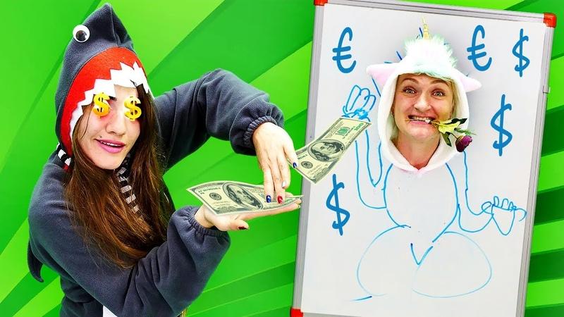 Baby Shark vende un retrato de la Unicornio Juegos del Castillo mágico Vídeos de unicornios