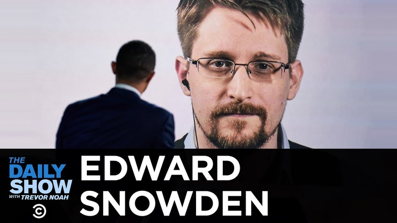 "Edward Snowden Permanent Record"" Life as an Exiled NSA Whistleblower The Daily Show"