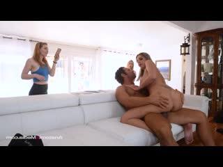 Nina Elle - Cuckold Cops [Brunette, Blonde, Big Tits, Milf, Tattoos, Blowjob, Deepthroat, Cumshot, Titty Fuck, Creampie]