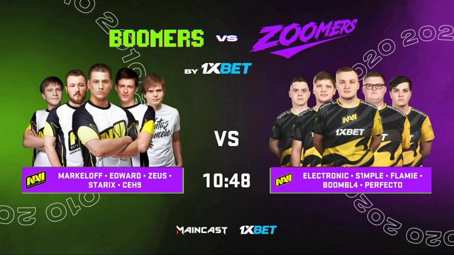 RU NA'VI 2010 I vs NAVI 2020 BOOMERS vs ZOOMERS by 1XBET csgomc ru on Twitch