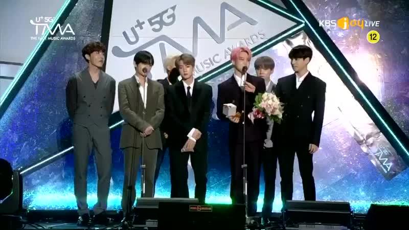 [U5G TMA] 190424 - - Congratulations to BTS for winning the U Idol Live Popularity Award