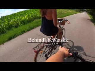 велопрогулки доводят до траха)  BehindTheMaskk Rough Sex After Riding A Bicycle With My New Friend