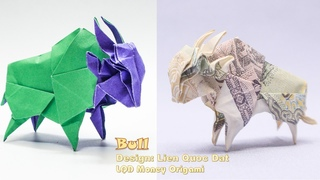 How to make origami Bull by money - LQD Money Origami