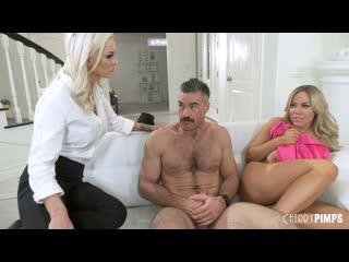 Olivia Austin & Kenzie Taylor (Caught Fucking My Sisters Man) [2020, Threesome, FFM, Big Tits, Nylons, Stockings, 1080p]