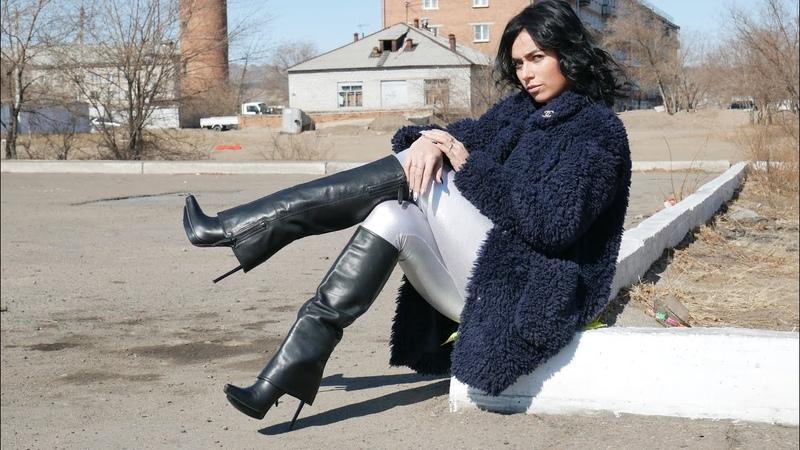 Kristina's Gianmarco Lorenzi pointed toe platform stiletto heels leather boots Size EU 39 US 8 5