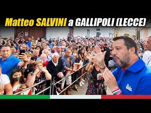MATTEO SALVINI A GALLIPOLI LECCE 18 07 2020