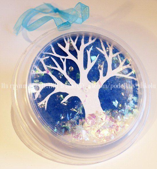 ПОДВЕСКИ ВРЕМЕНА ГОДА между пластиковыми прозрачными крышками падает снежок/листья/лепестки цветущих деревьев в виде разноцветных конфетти и