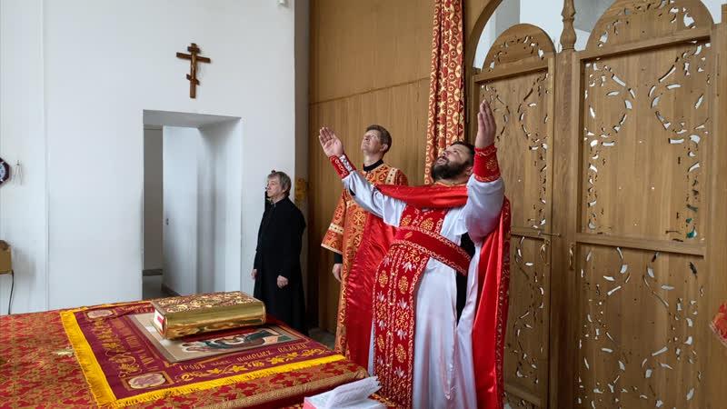 Перенесение мощей святителя и чудотворца Николая из Мир Ликийских в Бар Божественная Литургия