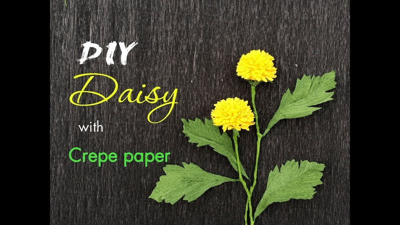 How to make Daisy from Crepe paper - HMC Art