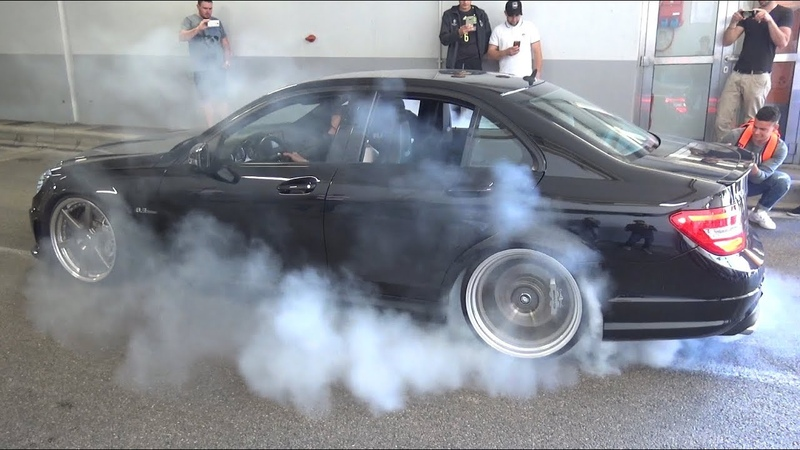 BURNOUTS MADNESS in a Tunnel!! - CRAZY Tuned Cars LOUD Sounds, Launch Controls Accelerations!!