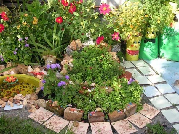 Идеи для украшения сада на даче своими руками. Включаем фантазию