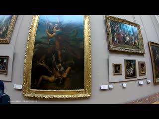 4K Virtual Tour - Inside Louvre Museum Paris, Mona Lisa - (Part 1) 🇫🇷 France