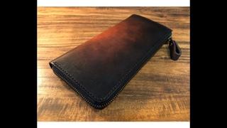 【Making】L-shaped Zipper Wallet / LeatherCraft【PDF Pattern】