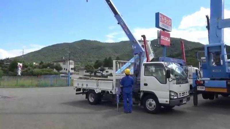 中古トラック いすゞ エルフ タダノ製 3段クレーン ZR263 作動確認