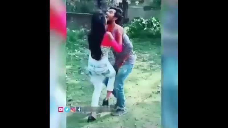Сногсшибательная встреча влюбленных хорошее настроение юмор смешное видео любовь студентка студенты муж и жена гол
