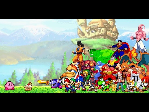 Kirby vs Everybody (Kirby vs Mario Pokemon Sonic Avengers Dragon Ball plus many more)