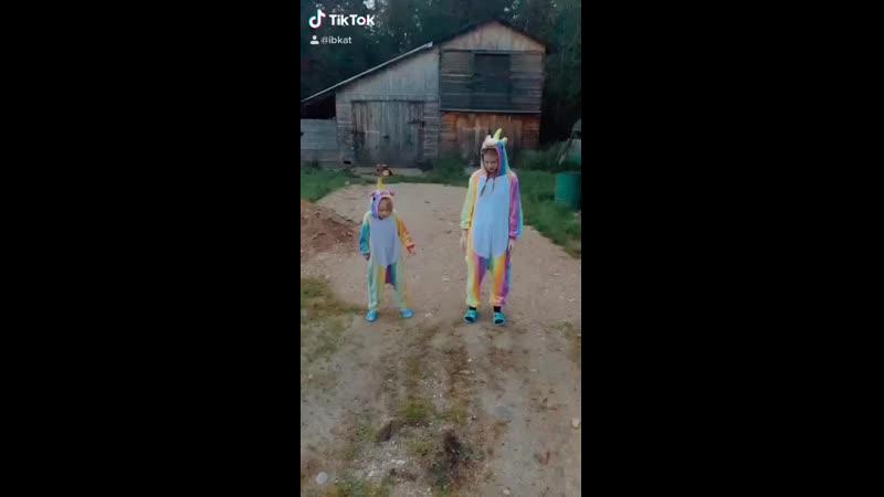 Девчонки в деревне веселятся