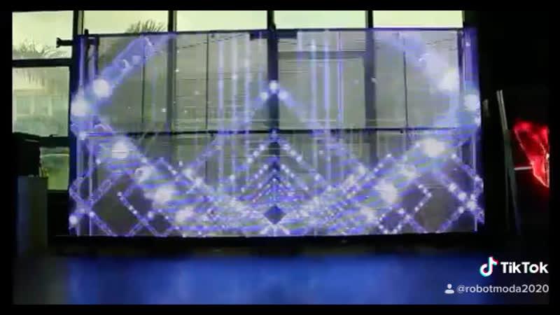 Прозрачный Светодиодный Экран на ваше Мероприятие! Аренда Робот Мода transparent led event robotmoda www.robotmoda.ru