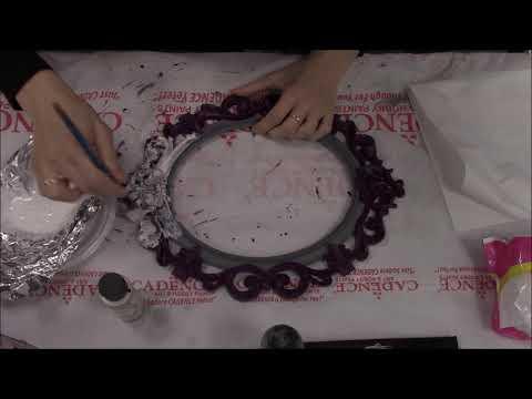 Decoupage tutorial Deco Rezerva (Hybrid,antique powder, gold leaf)