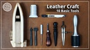 [Leather Craft] 10 leather craft tools for beginners basic everyday tool for me