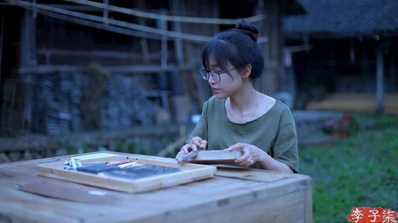 (木活字)Woodblock printing, engraved with the essence of the ancient Chinese culture  Liziqi Channel