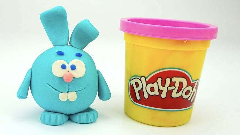 Пластилин для детей лепим Кроша из мультика Смешарики