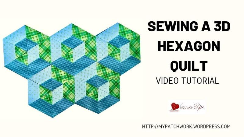 Sewing a 3D hexagon quilt
