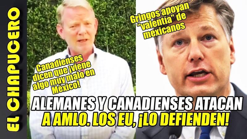 Sacan el cobre embajadores de Canadá y Alemania vs AMLO El de EU ¡se la rifa