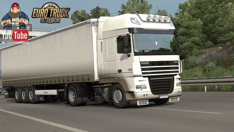 ETS2 v1 37 Paintable Dirty Skin for DAF XF 105 Krone Profiliner