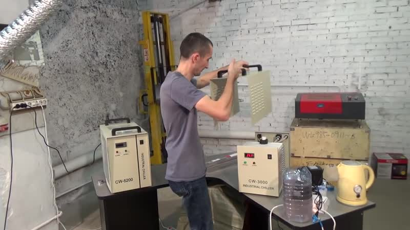 ✅ Как охлаждать СО2 лазерную трубку излучатель станка с ЧПУ ОБЗОР системы охла