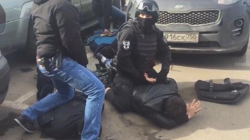 Задержание банды грабителей